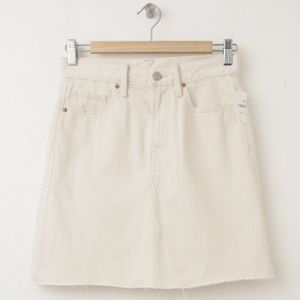 White gap jean skirt